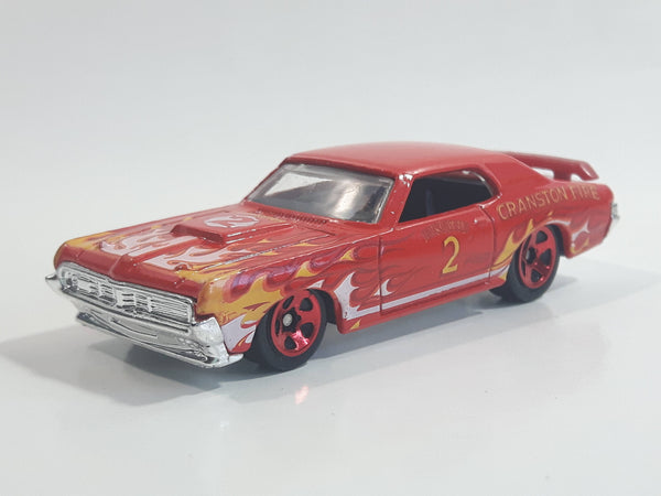 2012 Hot Wheels HW Main Street '69 Mercury Cougar Eliminator Cranston Fire #2 Red Die Cast Toy Muscle Car Vehicle