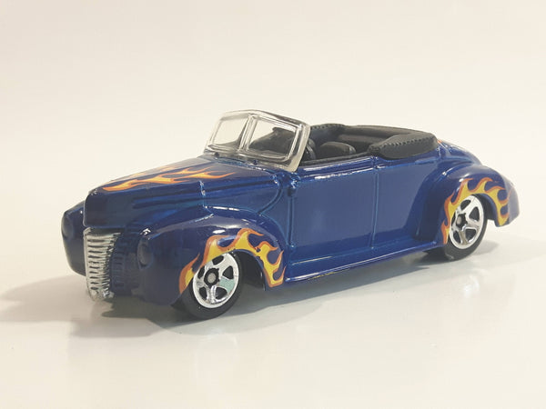 2008 Hot Wheels All Stars '40 Ford Convertible Dark Blue Die Cast Toy Car Vehicle
