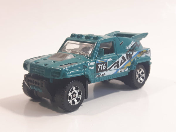 2007 Matchbox MBX Metal Adventure Ridge Raider Dark Teal Green Die Cast Toy Car Vehicle