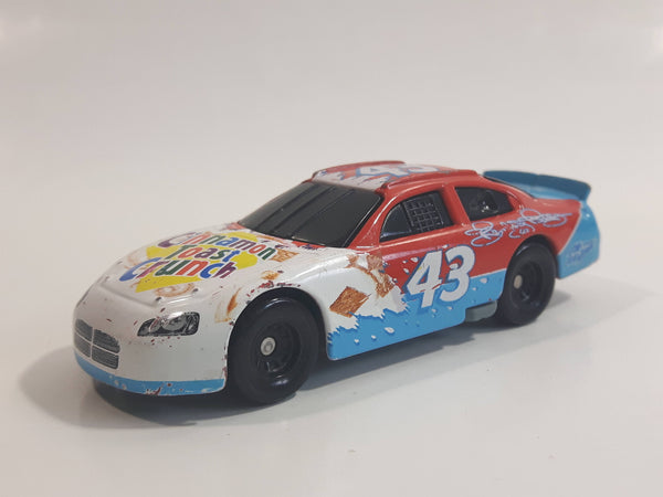 2008 NASCAR General Mills Cinnamon Toast Crunch Cereal Betty Crocker #43 Richard Petty White Blue Red Die Cast Toy Race Car Vehicle