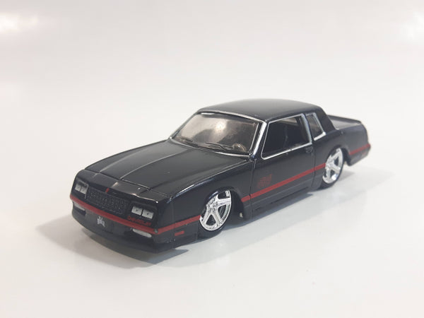 Maisto Ridez 1986 Chevrolet Monte Carlo SS Black Die Cast Toy Car Vehicle with Rubber Tires