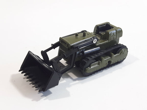 Unknown Brand N8633 Bulldozer Army Green Die Cast Toy Car Vehicle with Rubber Tracks