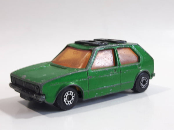 1976 Lesney Products Matchbox Dark Green Superfast No. 7 VW Volkswagen Golf Toy Car Vehicle