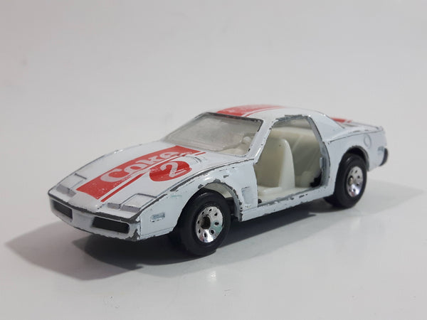 1988 Hartoy Coca Cola Coke Soda Pop Porsche 935 White Red #2 Die Cast Toy Car Vehicle with Opening Doors (Missing a Door)