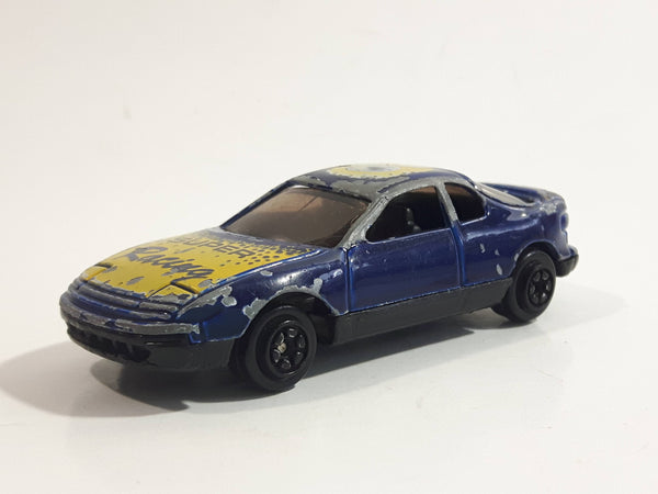 "Yat Ming No. 805 1989-1993 Toyota Celica Turbo AWD 5th Gen T180 ""Super Racing"" #5 Blue Die Cast Toy Car Vehicle"