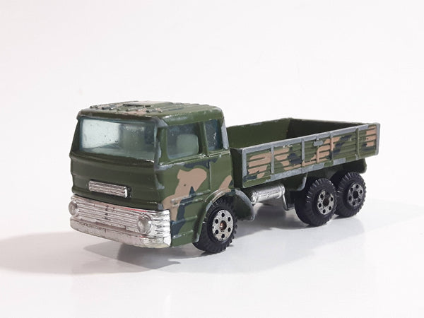 Yat Ming No. 1362 1965 Ford D Series Truck Military Army Green and Brown Camouflage Die Cast Toy Car Vehicle