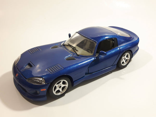 Burago Dodge Viper GTS Coupe Blue 1/24 Scale Die Cast Toy Car Vehicle with Opening Doors