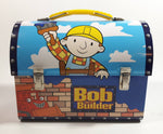 2001 Bob The Builder Tin Metal Curved Top Lunch Box