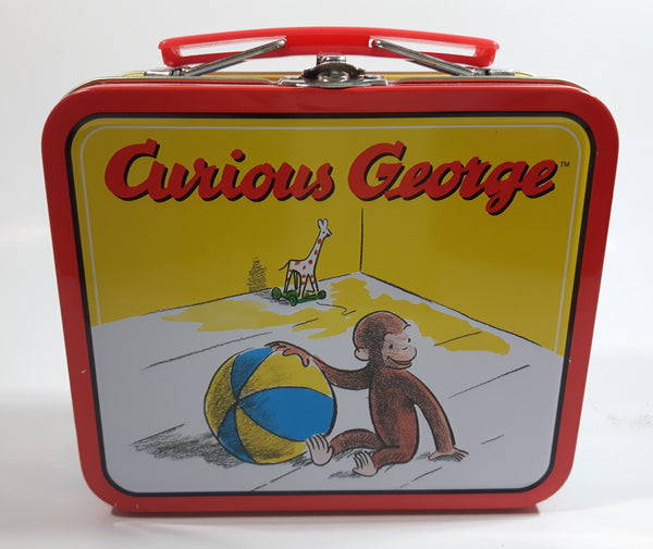2000 Curious George Small Tin Metal Lunch Box