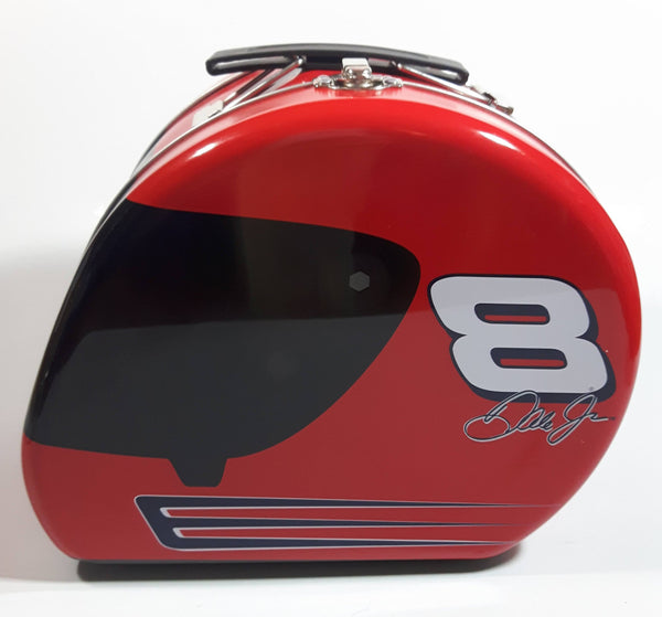 Action Racing NASCAR Winner's Circle Driver #8 Dale Earnhardt Jr. Red and Black Helmet Shaped Lunch Box Tin Metal Container