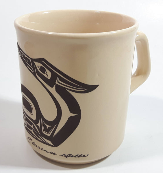 Vintage Clarence A. Wells Loon Bird Pottery Coffee Mug