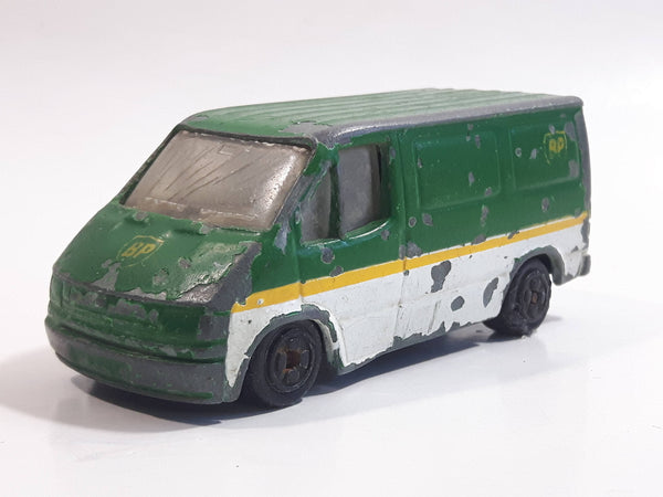 1994 Hot Wheels Auto City Corgi Transit Van Casting BP Green and White Die Cast Toy Car Vehicle