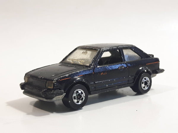 Hard to Find 1983 Hot Wheels Ford Escort Black Die Cast Toy Car Vehicle