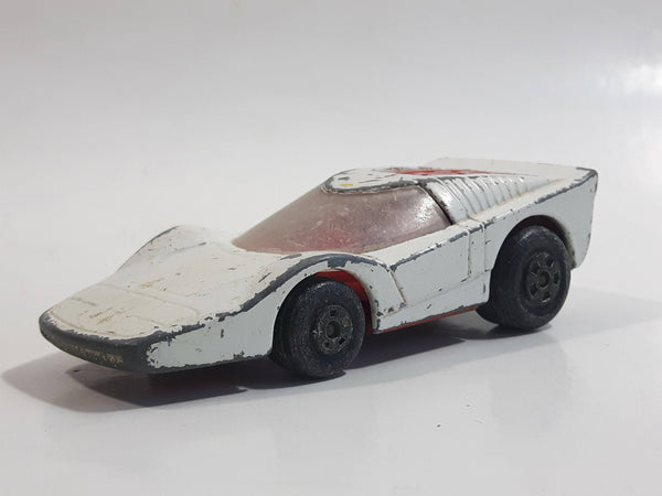 Vintage 1975 Lesney Matchbox Rolamatics No. 35 Fandango White Die Cast Toy Car Vehicle Made in England - White Base