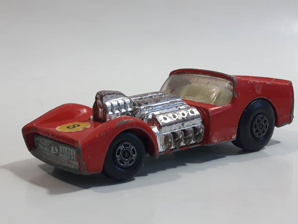 Vintage 1971 Lesney Matchbox Superfast No. 19 Road Dragster #8 Red Die Cast Toy Car Vehicle
