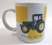 "Gibson John Deere Tractors ""Nothing Runs Like a Deere!"" Ceramic Coffee Mug Farming Collectible"