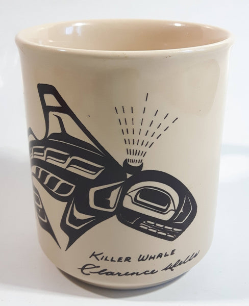 Vintage Clarence A. Wells Killer Whale Orca Pottery Coffee Mug