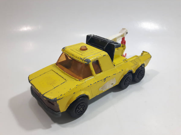 Vintage 1979 Lesney Matchbox Super Kings No. K-11 Pick Up Truck Yellow Die Cast Toy Car Towing Wrecking Vehicle