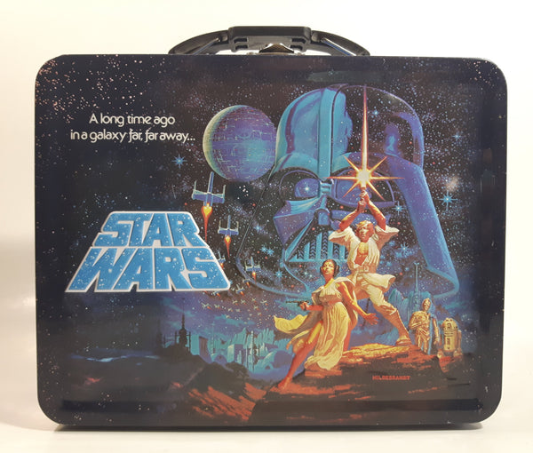 "2012 Lucas Films Star Wars ""A long time ago in a galaxy far, far away..."" Embossed Tin Metal Lunch Box"