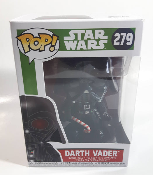 Funko Pop! Star Wars #279 Darth Vader with Candy Cane Bobble-Head Toy Collectible Vinyl Figure in Box