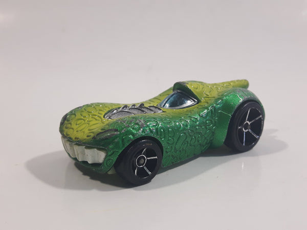 2010 Hot Wheels Disney Pixar Toy Story 3 Rex Rider Two-Tone Satin Green and Lime Green Die Cast Toy Character Car Vehicle