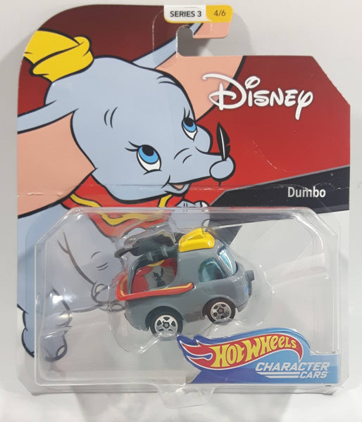 2019 Hot Wheels Disney Character Cars Series 3 #4/6 Dumbo Grey Die Cast Toy Car Vehicle New in Package