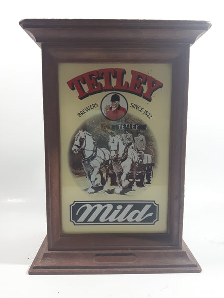 Vintage SDI Ltd Tetley Brewers Since 1882 Mild Hard Plastic Pub Bar Counter Light Up Advertising Sign - No Wiring