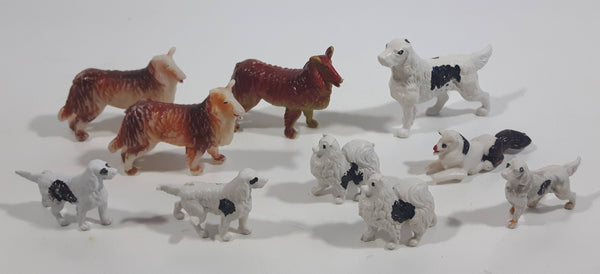 Vintage Plastic Farm Dog Toys Made in Hong Kong Lot of 10