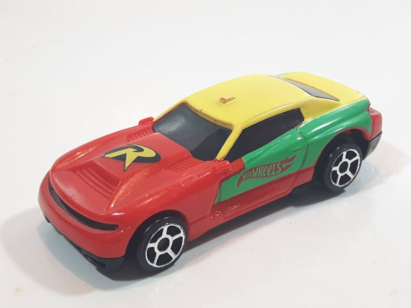 2016 Hot Wheels DC Comics Batman's Robin Red Yellow Green Plastic Pullback Motorized Friction Toy Car Vehicle McDonald's Happy Meal