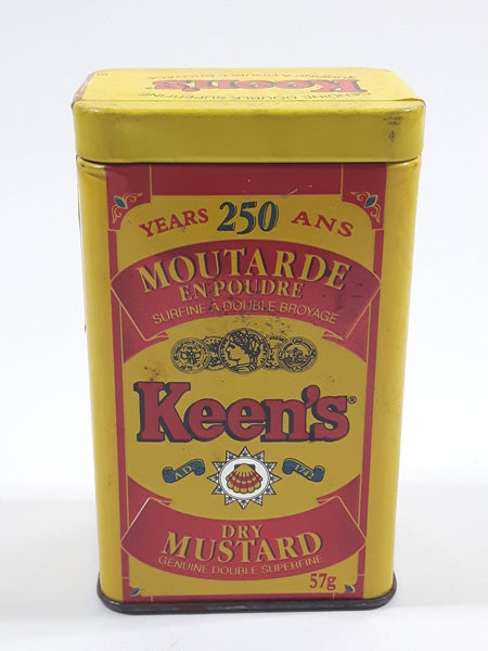 1992 Keen's Dry Mustard Genuine Double Superfine 250 Years 250th Anniversary Tin Metal Container