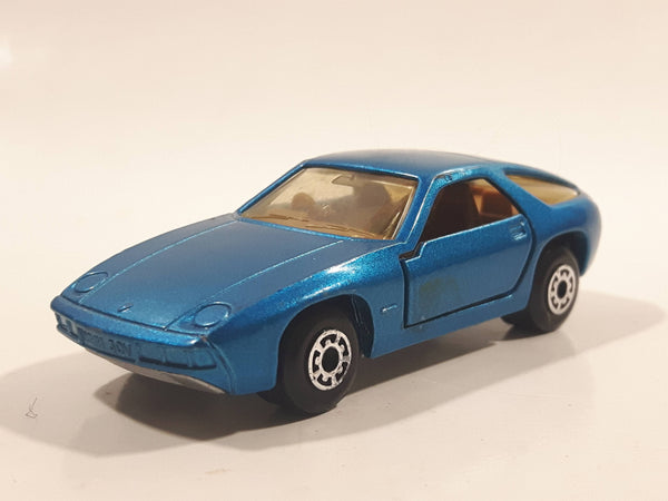 Vintage 1981 Lesney Matchbox Superfast No. 59 Porsche 928 Blue Die Cast Toy Car Vehicle with Opening Doors