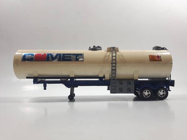 Vintage 1983 Lesney Matchbox Super Kings K-103 Petrol Fuel Oil Tanker Trailer Comet Cream White Die Cast Toy Car Vehicle