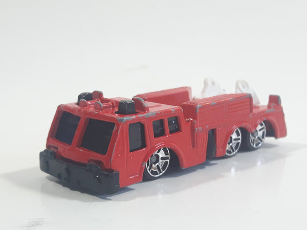 Maisto Fire Truck Red Fire Engine Die Cast Toy Car Emergency Rescue Vehicle