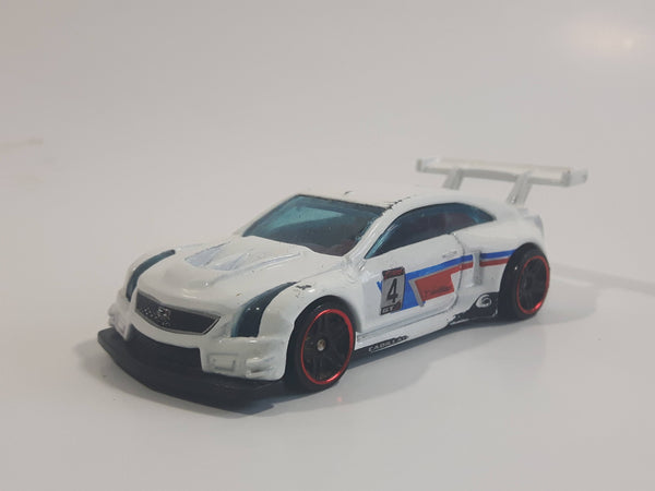 2019 Hot Wheels HW Race Day '16 Cadillac ATS-V R White Die Cast Toy Race Car Vehicle