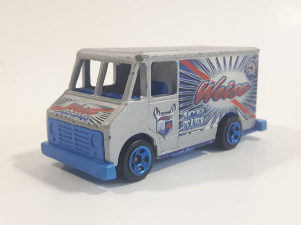 2003 Hot Wheels Carbonated Cruisers Combat Medic Delivery Truck Van Weise Ice Teazers Soda Silver Die Cast Toy Car Vehicle