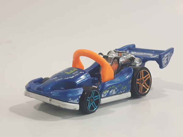 2018 Hot Wheels HW Ride-Ons Let's GO Pearl Blue Die Cast Toy Car Go Kart Vehicle