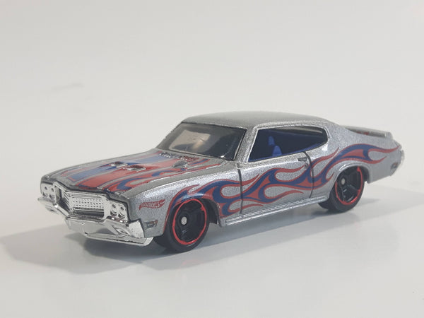 2014 Hot Wheels HW Workshop - Heat Fleet '70 Buick GSX Metalflake Silver Die Cast Toy Car Vehicle