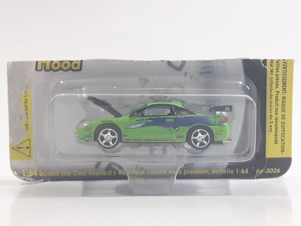Revell The Fast and Furious Paul Walker's Brian's Mitsubishi Eclipse Turbo Bright Green Die Cast Toy Car Vehicle with Opening Hood