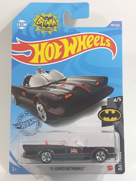 2020 Hot Wheels DC Comics Batman Classic TV Series Batmobile Black Die Cast Toy Car Vehicle New in Package