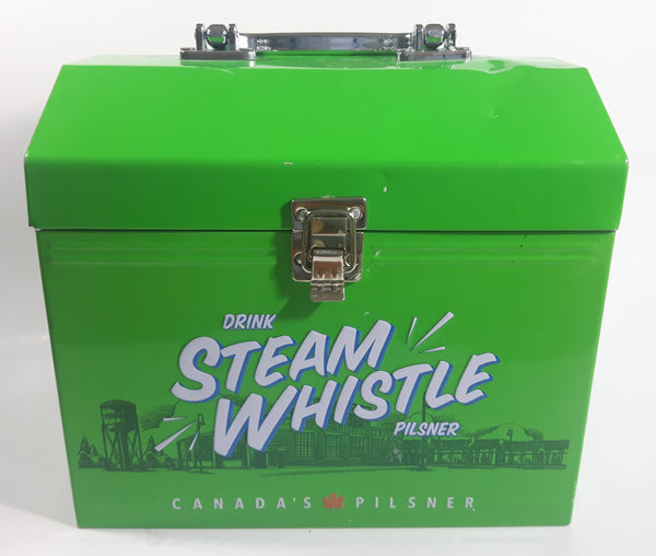 Drink Steam Whistle Pilsner Canada's Pilsner Beer Bright Green Metal Lunch Box
