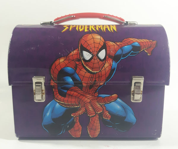 Marvel Comics Spider-Man Purple Tin Metal Lunch Box