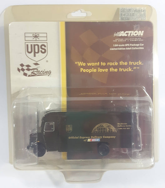 2001 Action Racing NASCAR UPS Package Delivery Truck Brown 1/64 Scale Die Cast Toy Car Vehicle New in Package Limited Edition 1 of 31,320