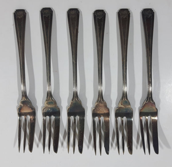 "Vintage Superior Tuscany 6"" Long Dinner Forks Set of 6 with Iron Cross Hallmark"