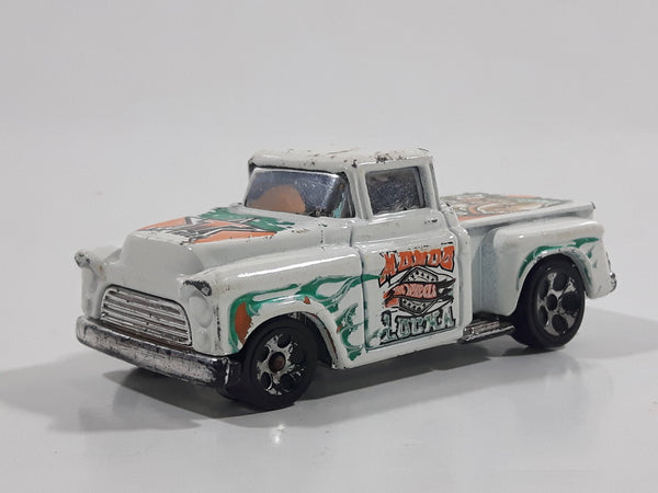 2003 Hot Wheels Radical Wrestlers 1956 Chevy '56 Flashsider Truck White Die Cast Toy Car Vehicle
