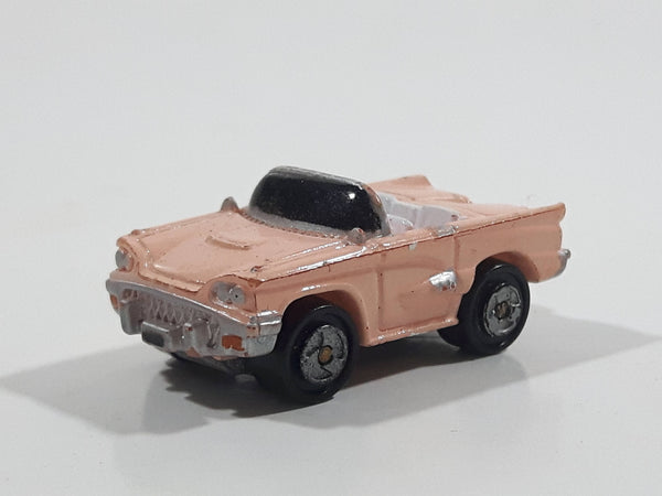 1988 Micro Machines '58 Ford Thunderbird Convertible Pink Miniature Die Cast Toy Car Vehicle
