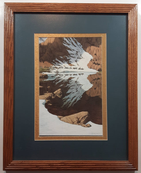 "Bev Doolittle 1947 ""Season Of The Eagle"" Framed Art Print Painting  12 1/2"" x 15 1/2"""