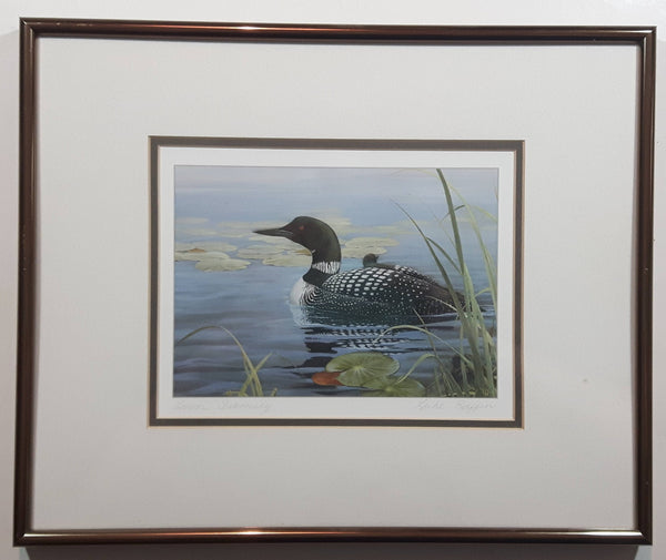 "Luke Raffin ""Loon Family"" Painting Wildlife Art Print 11 3/4"" x 14 3/4"" Signed"
