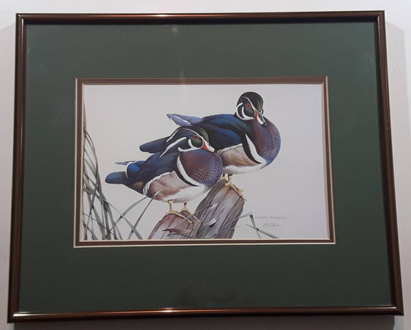 "Ducks Unlimited Artist Art Lamay ""Woody Buddies"" 11"" x 13"" Framed Wildlife Art Print"