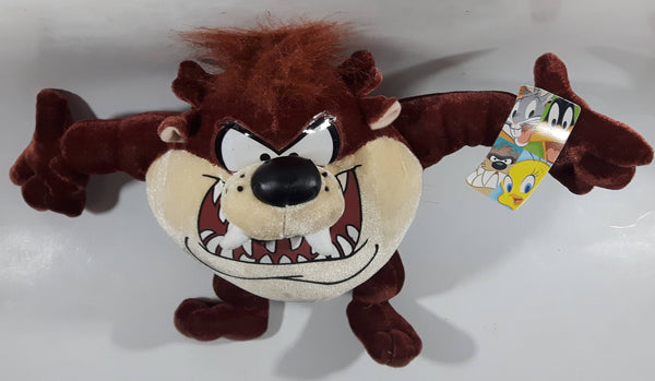 "2005 Ganz Warner Bros. Looney Tunes Taz Cartoon Character 8"" Tall Plush Stuffed Animal with Tags"