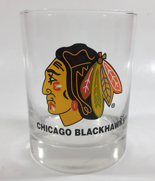 "Chicago Blackhawks NHL Ice Hockey Team 4"" Tall Clear Glass Cup"